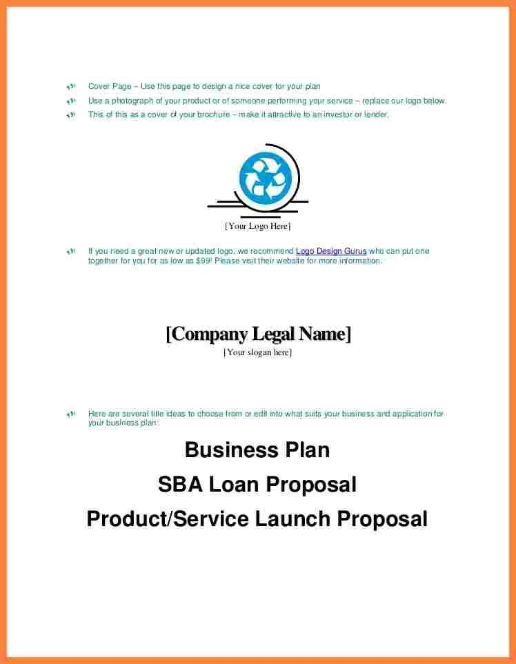 9+ business plan title page example | Bussines Proposal 2017
