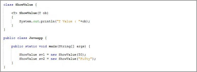 Java-Generic Constructors - Java Tutorial
