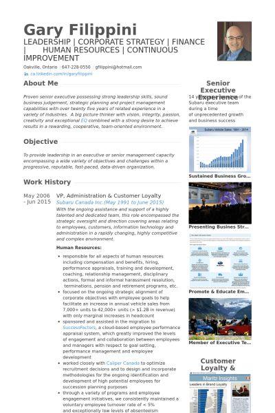 Administration Resume samples - VisualCV resume samples database