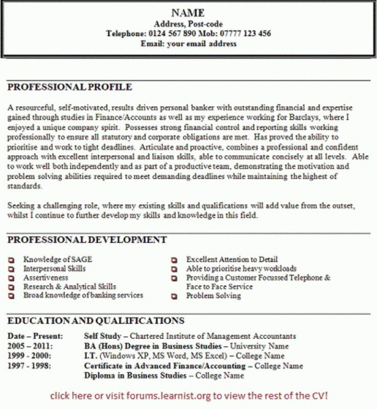 Personal Statement On Resume – Resume Examples