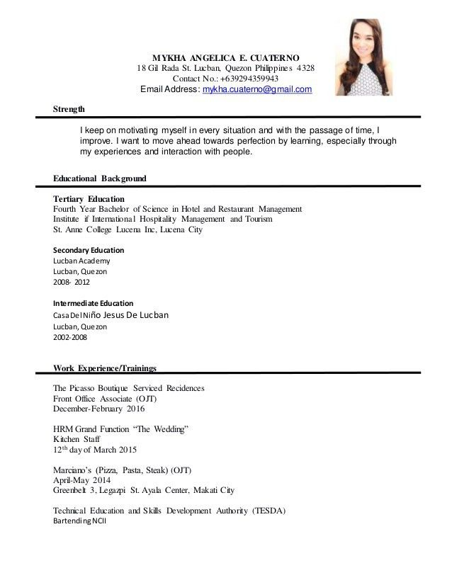 great formal resume example pictures resume sample college