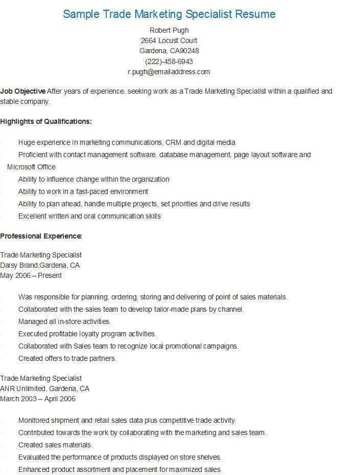 Sample Software Support Specialist Resume | resame | Pinterest ...