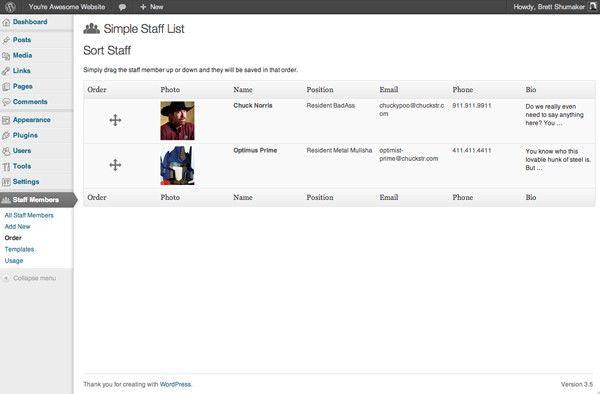 Simple Staff List — WordPress Plugins