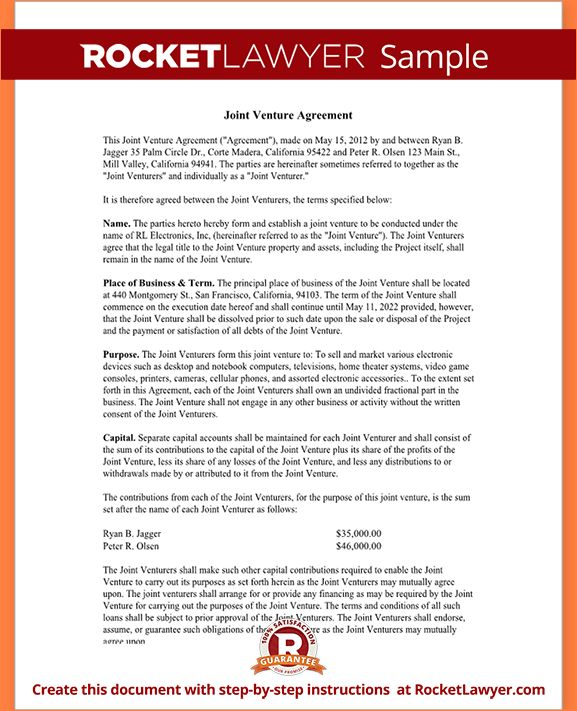 5+ joint venture agreement sampleReport Template Document | report ...