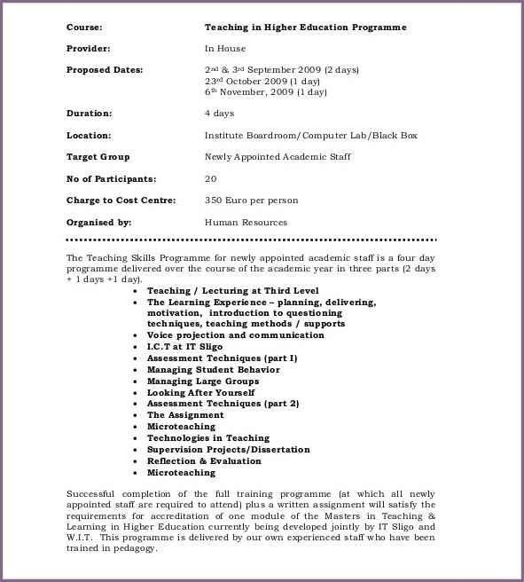 Training Proposal Templates. Employee Training Proposal Sample Ojt ...