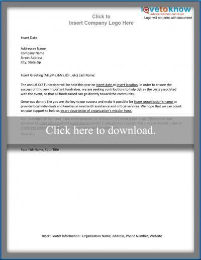 Free Sample Letters to Make Asking for Donations Easy