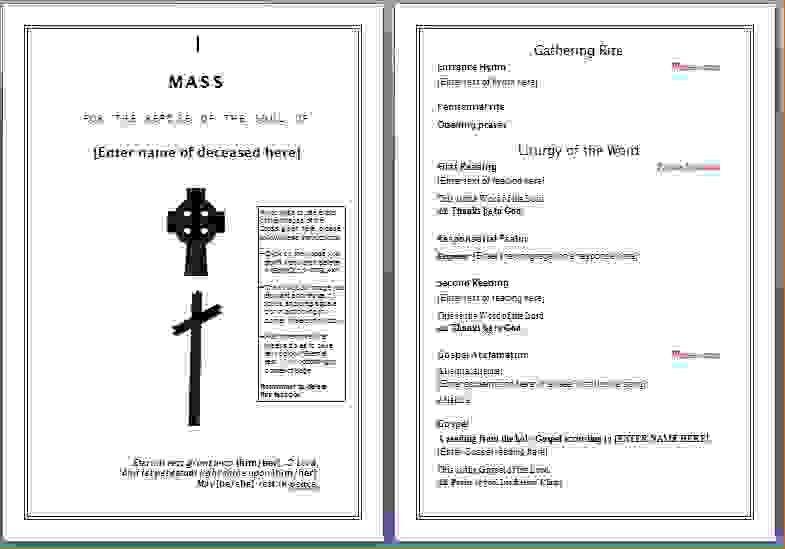 13 funeral program templatesAgenda Template Sample | Agenda ...