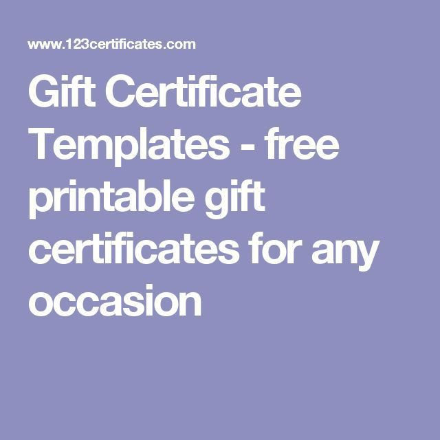 The 25+ best Free printable gift certificates ideas on Pinterest ...