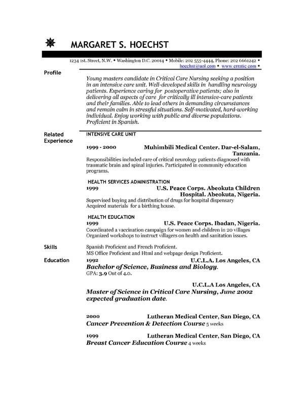 cna resume example click to zoom. sample resume cna resume cv ...
