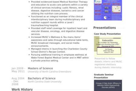 dietitian resume exles resume templates nutritionist nutritionist ...