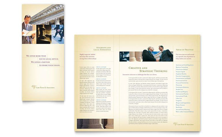 Attorney & Legal Services Brochure Template - Word & Publisher