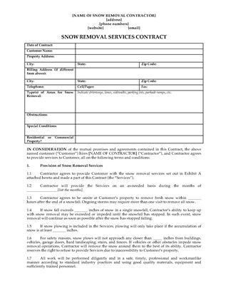 Landscaping Contract Form | Legal Forms and Business Templates ...