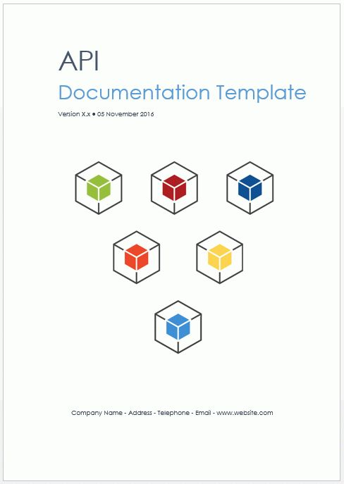 REST/Web API Documentation Template (MS Word) | Software ...