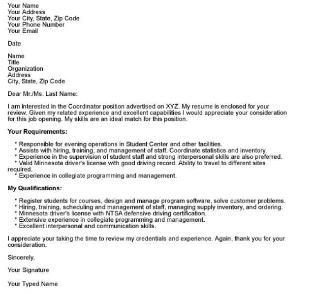 Cover Letter Email Example | haadyaooverbayresort.com