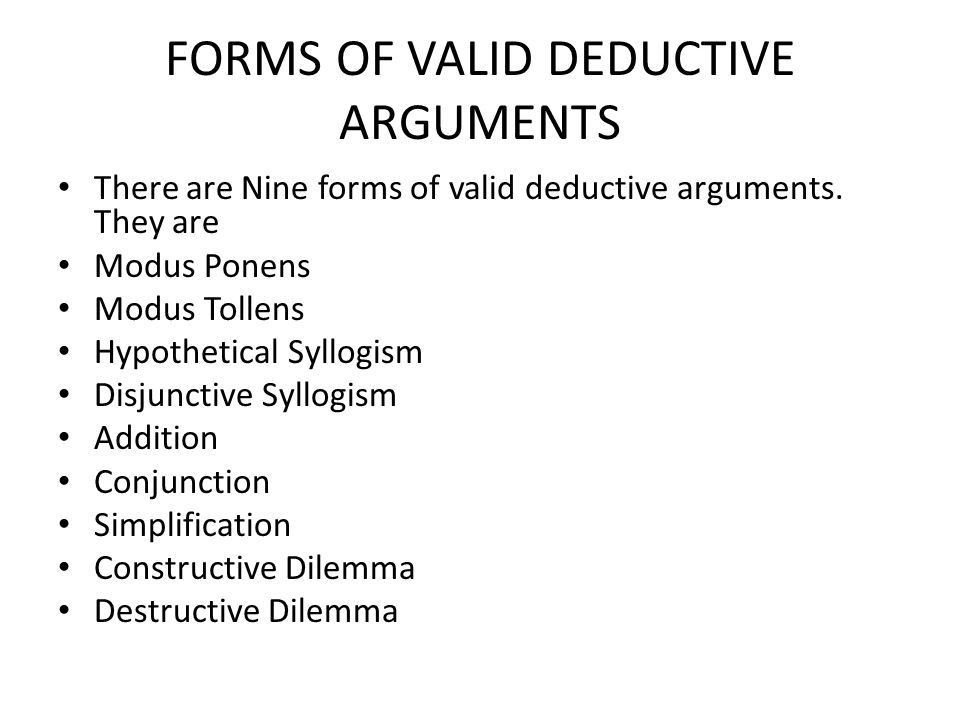 Formal logic The part of logic that deals with arguments with ...