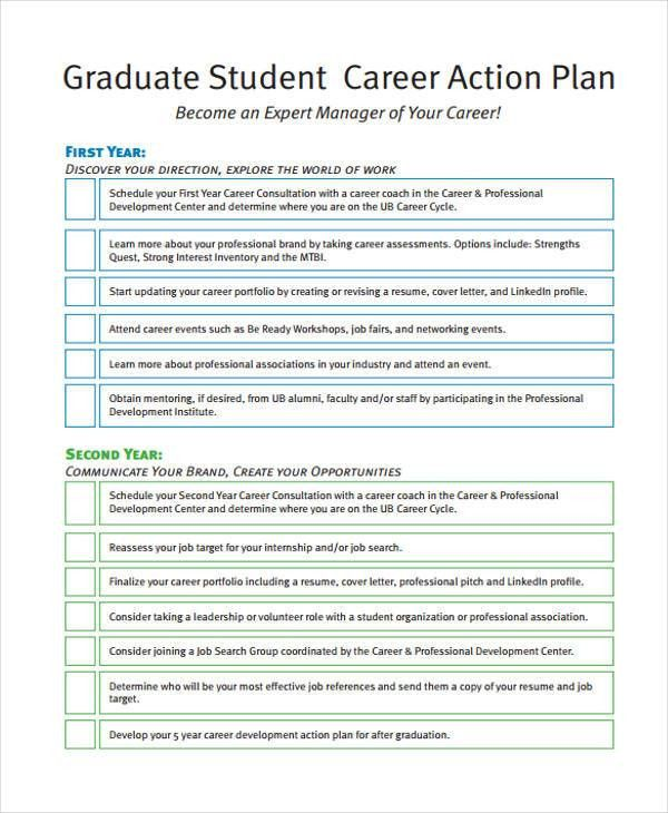 8 Student Action Plan Templates - Free Sample, Example Format ...