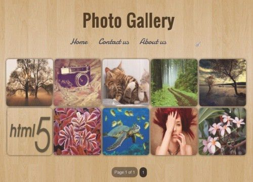 Photo Gallery Blogger template | Lovely Templates
