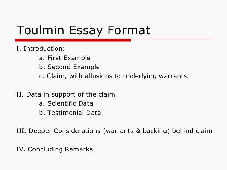 The Toulmin Model of Argument