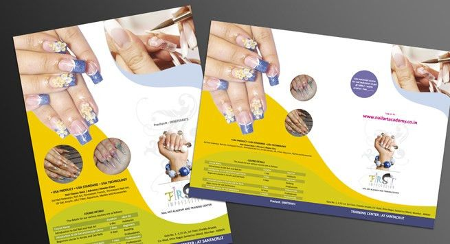 Single Page Brochure Design for Nail Treatment & Beauty Saloon