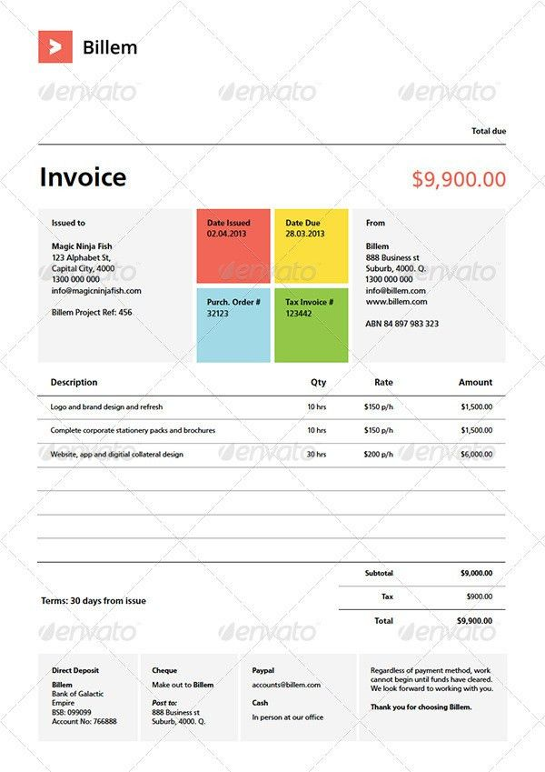 35+ Best Invoice Templates PSD DOCX - Free and Premium Download