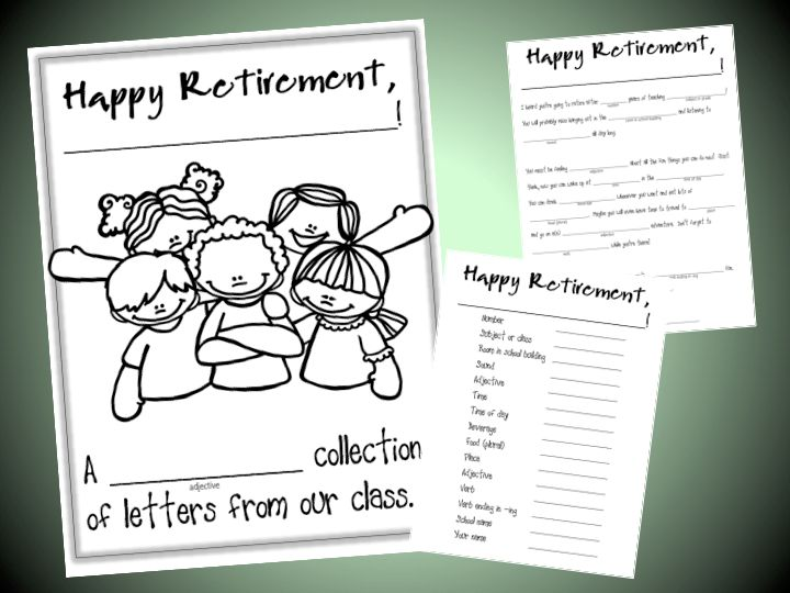Retirement booklet class gift- for teachers who are retiring at ...