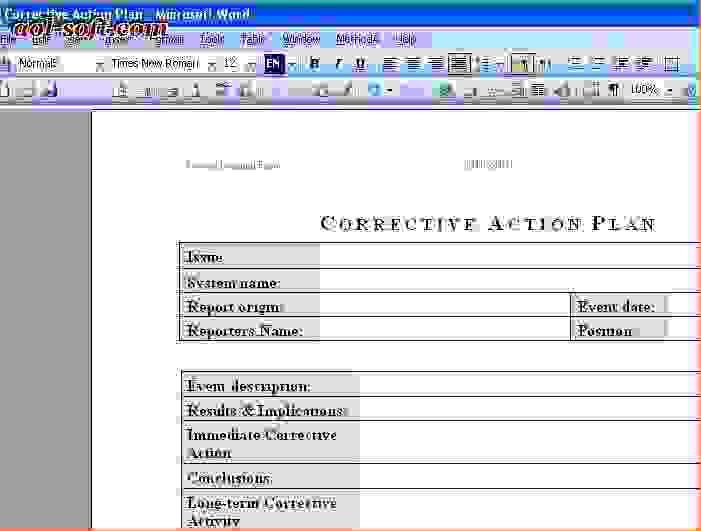 8+ corrective action plan template excelReport Template Document ...