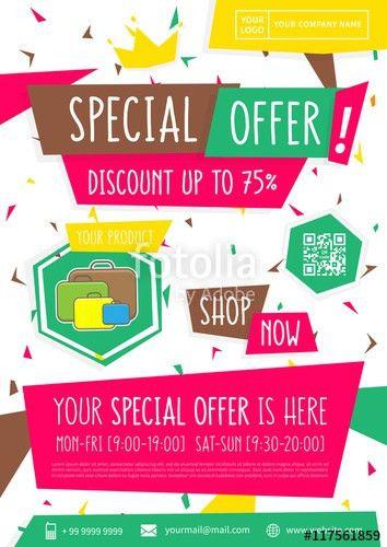 Promotion banner Special Offer vector illustration. Advertising ...