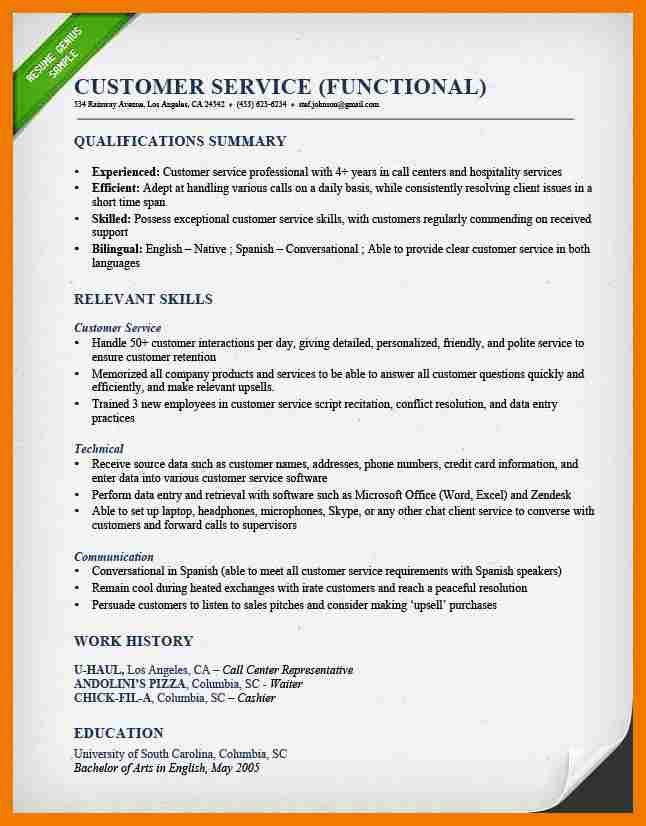 5+ examples of functional resume | mailroom clerk