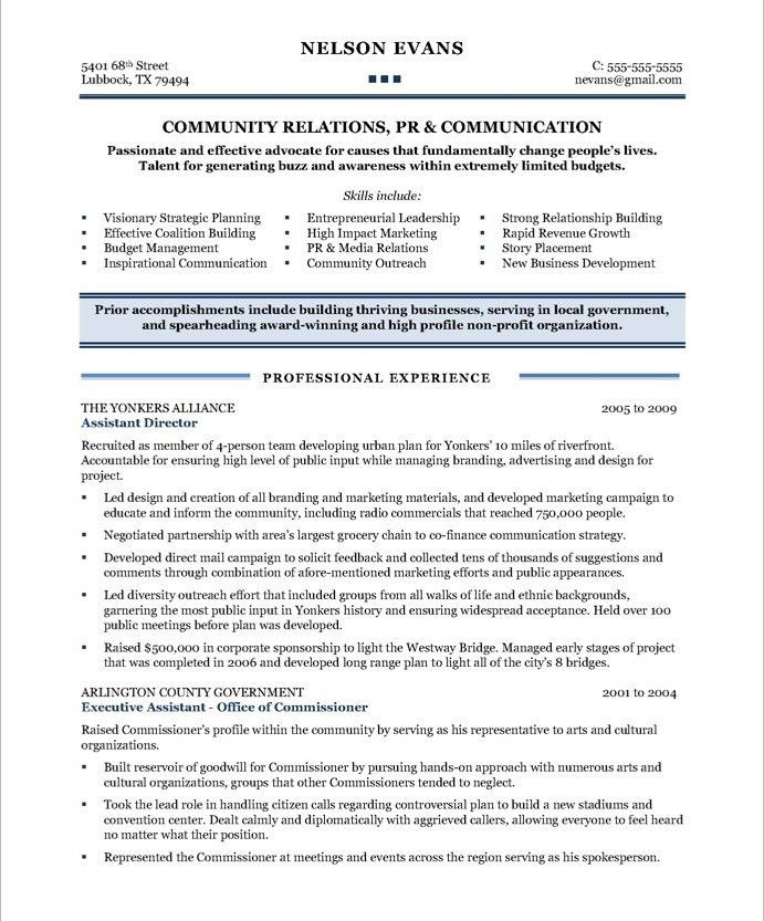Community Relations Manager | Free Resume Samples | Blue Sky Resumes