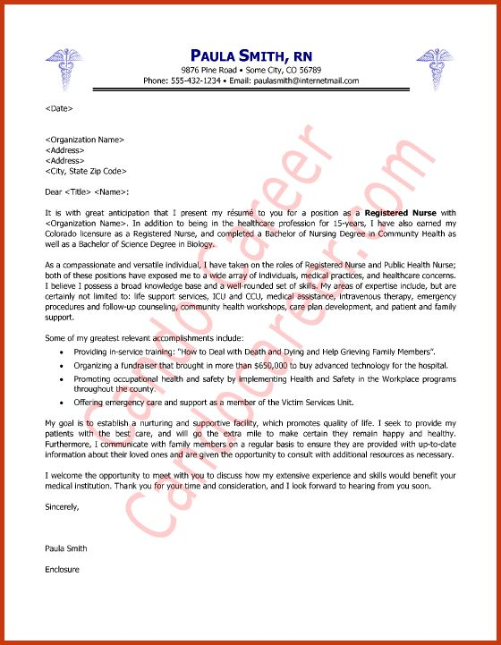 Nursing Position Cover Letter] New Grad Nurse Cover Letter Example .