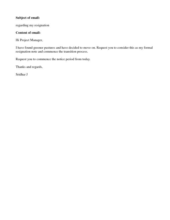 Short And Sweet Resignation Letter : Vntask.com