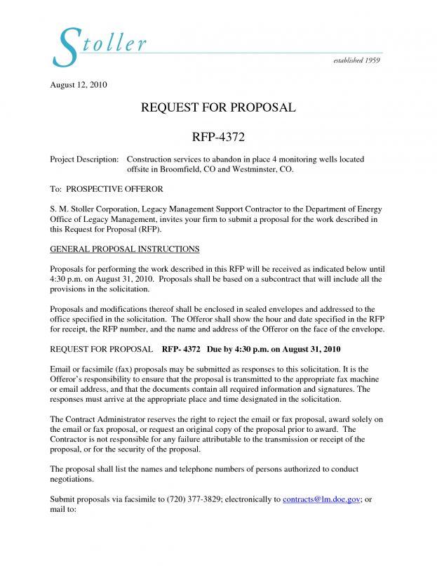 Proposal Bid Sample Quote Format In Word Written Receipt Template ...