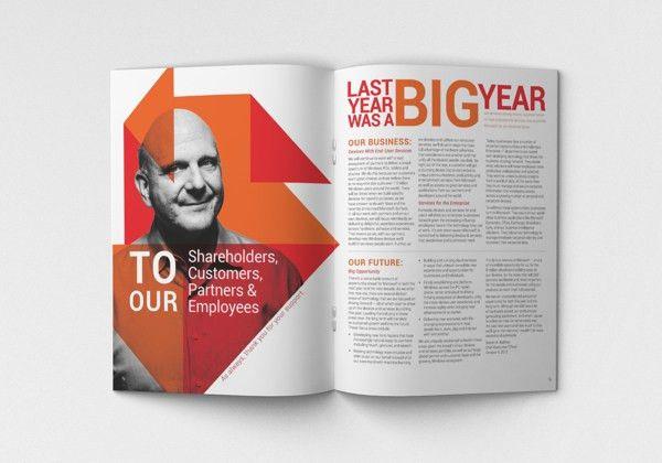 Microsoft Annual Report by Megan Nicolle Jackson, via Behance ...