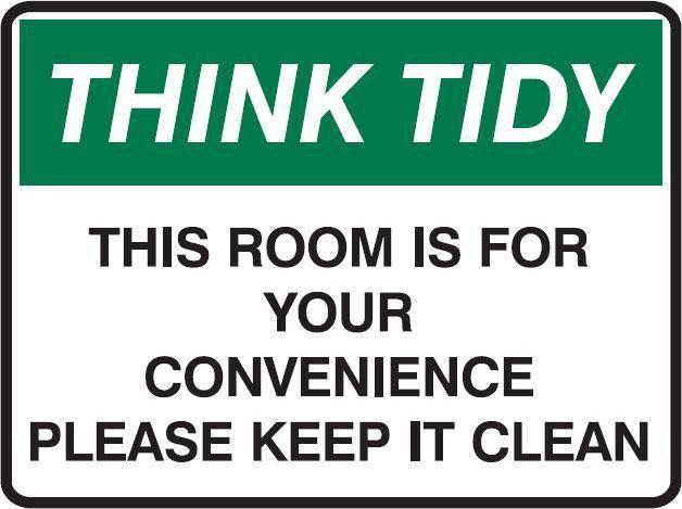 Printable Keep Breakroom Clean Signs   ... Tidy Signs - This Room ...