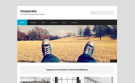 Corporate Free Business WordPress Theme - WPExplorer