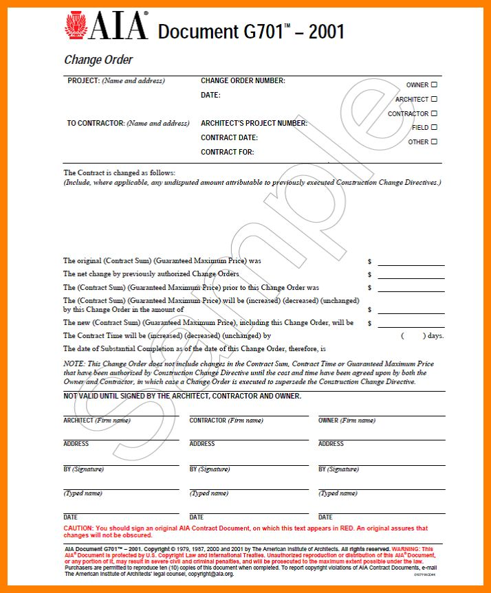 4+ aia change order form | monthly budget forms