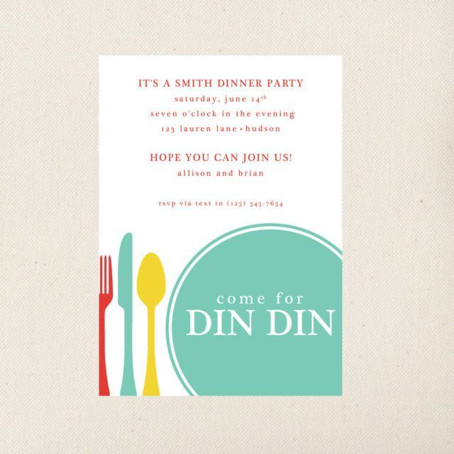 Printable Gray Themed With Dinner Party Invitation Wording ...