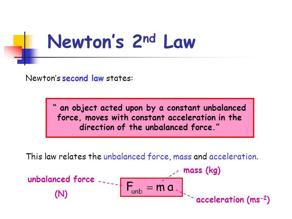 1.3 – Newton's Second Law, Energy and Power - ppt video online ...