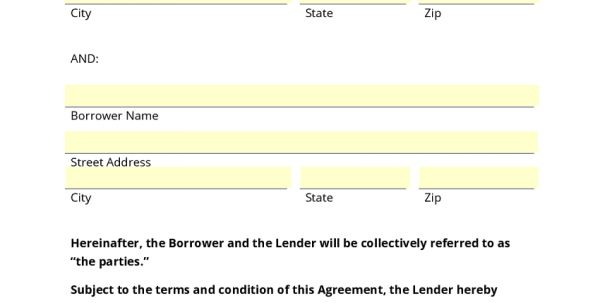 Free Simple Loan Agreement Form Template Simple Loan Agreement ...
