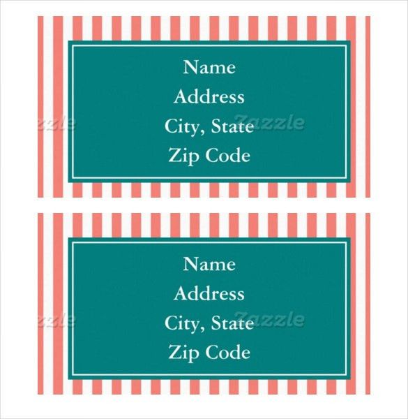 15+ Address Label Templates – Free Sample, Example Format Download ...