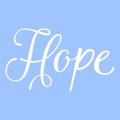 "3 h"" hope stencil mini template stencils word paint craft ..."