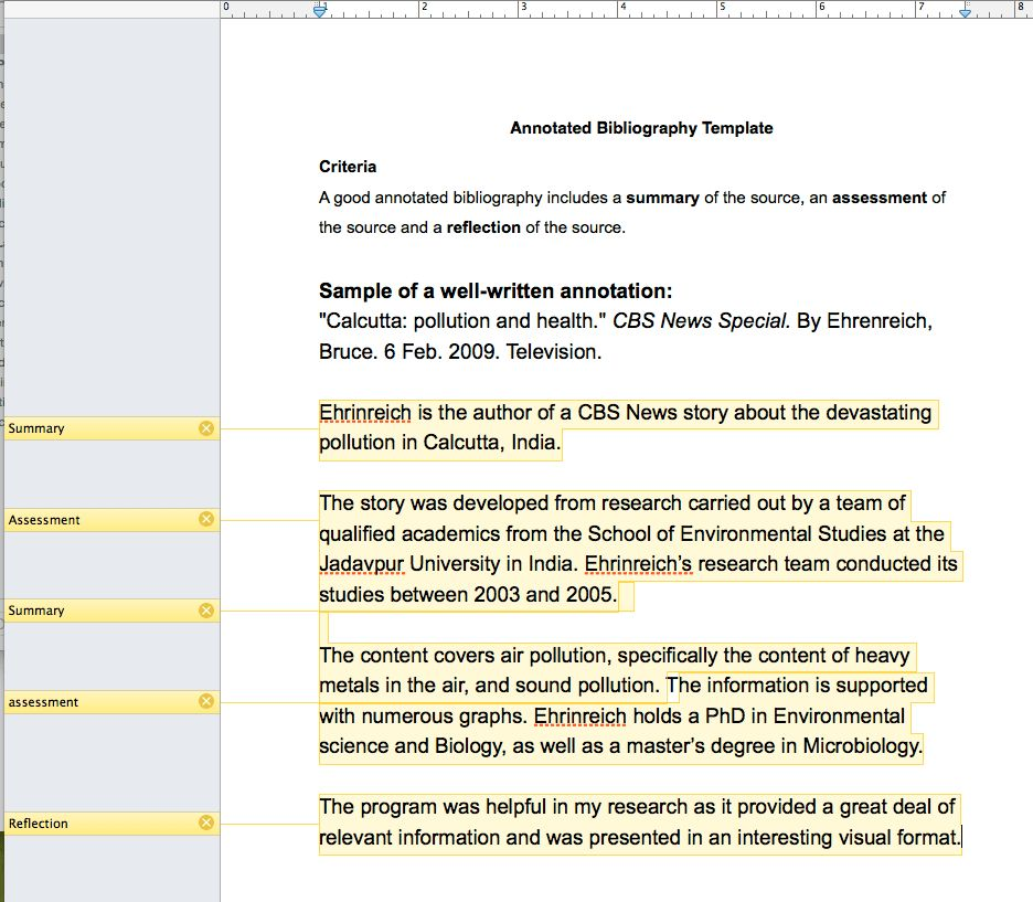 Annotated Bibliography - San Domenico School