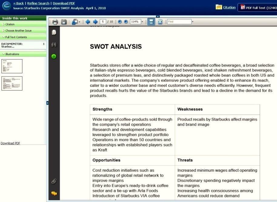 Example Swot Analysis Apa Format - Template Update234.com ...