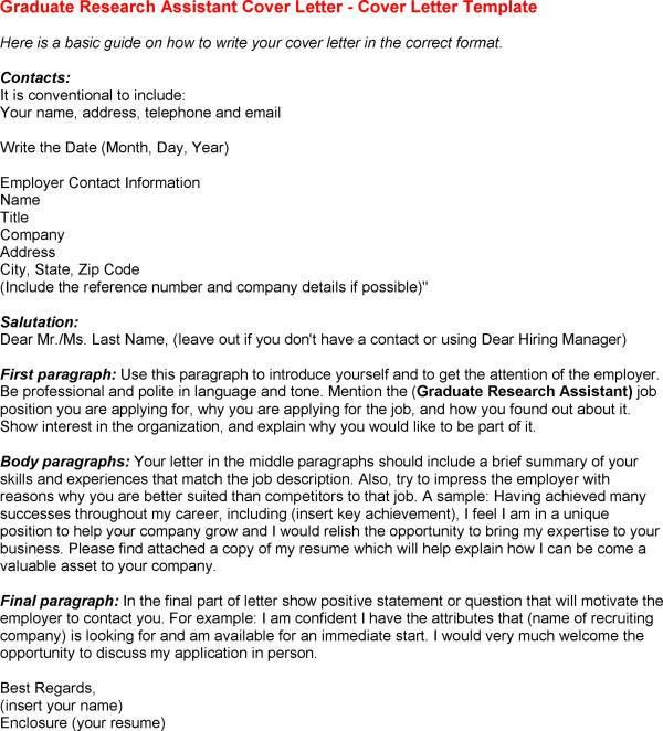 Cover Letter Research Assistant - My Document Blog