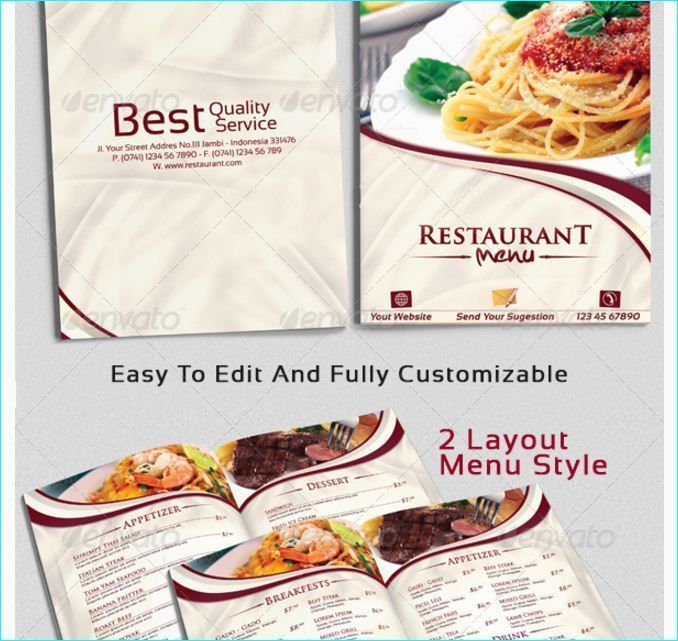 21 best 20 Tasteful & Beautifully Designed Restaurant Menu ...