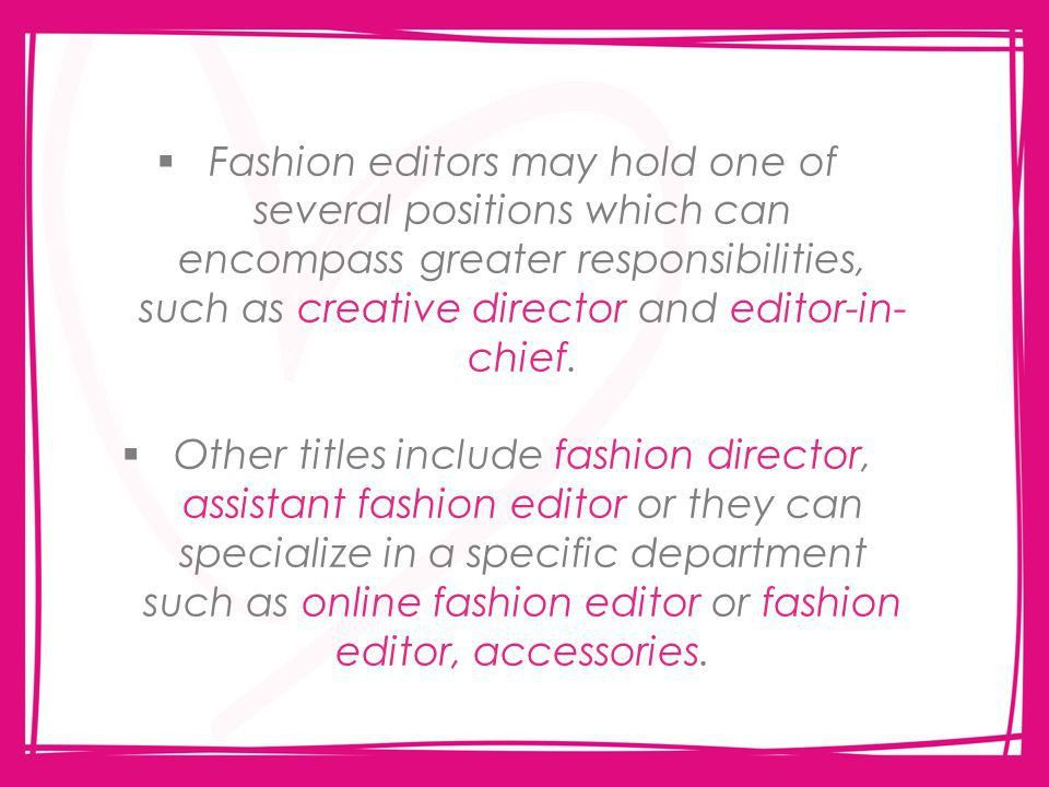 Fashion Editor By Alexa James. Anna Wintour – American Vogue's ...
