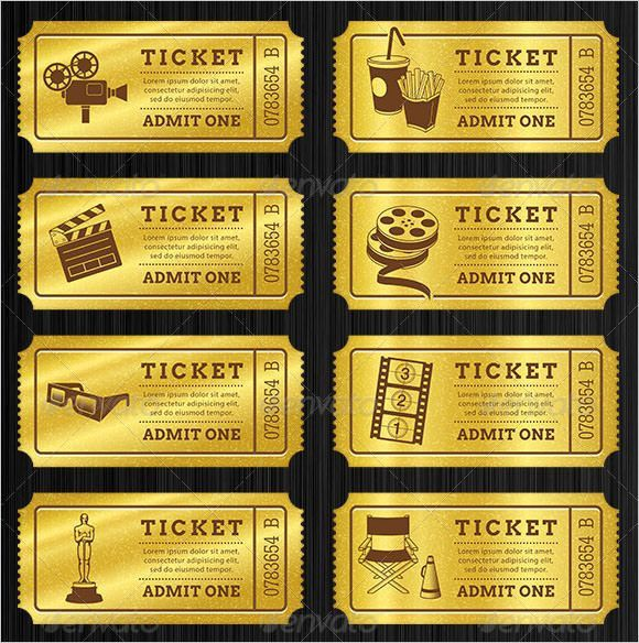 Image Gallery of Vip Movie Ticket Template