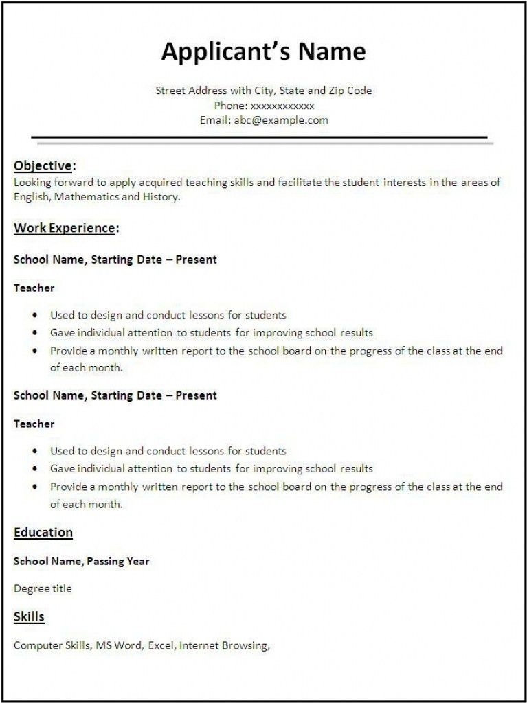 Perfect Resume Format. Crafty What Is The Best Resume Format 9 ...