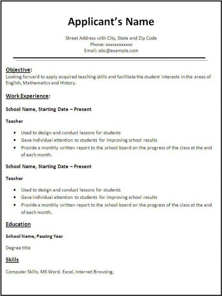Best Job Resume Format Ideas