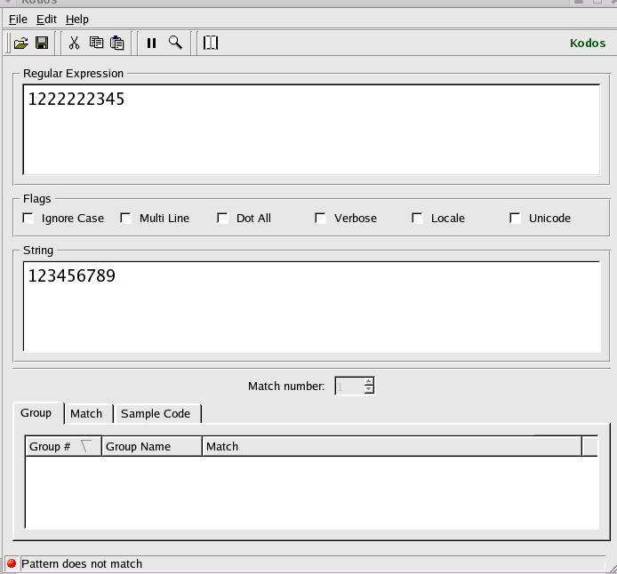 Kodos - The Python Regex GUI Debugger
